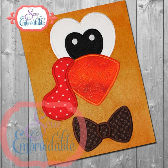 Turkey Boy Face Applique
