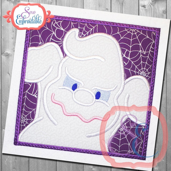 Box Ghost Applique - embroidery-boutique