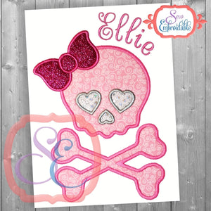 Glam Skull Applique