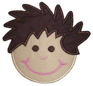 Boy Face Applique