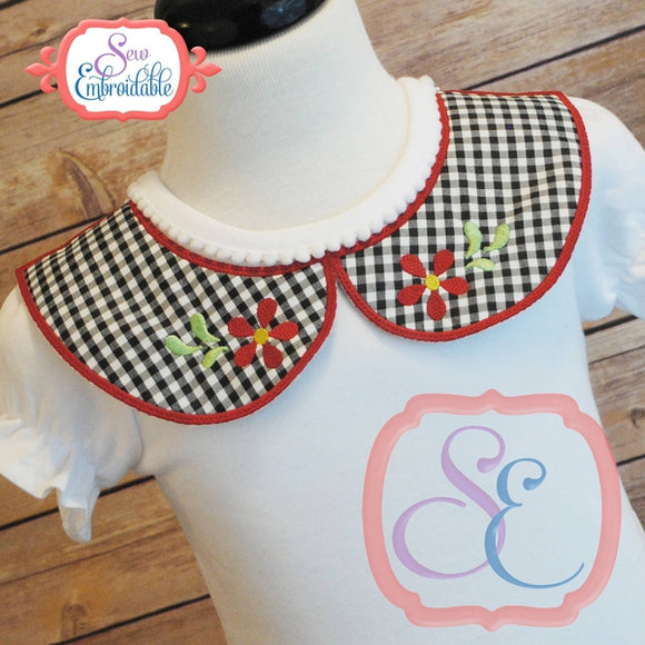 Faux Rounded Collar Front, In The Hoop Projects