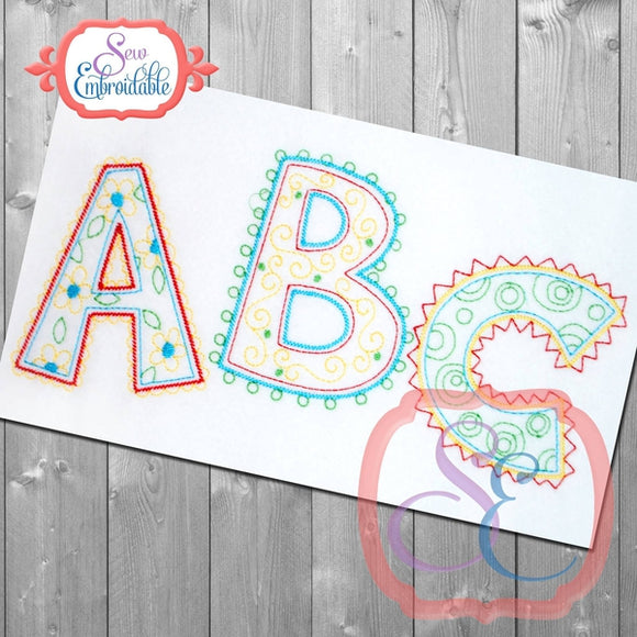 Doodle ABC Design - embroidery-boutique