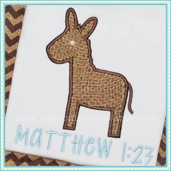 Donkey Applique - embroidery-boutique