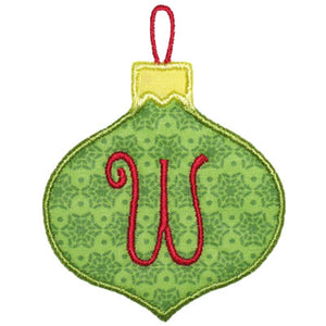 Ornament Applique Alphabet - embroidery-boutique