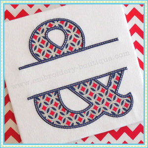 Split Tuscan Ampersand Applique, Applique Alphabet