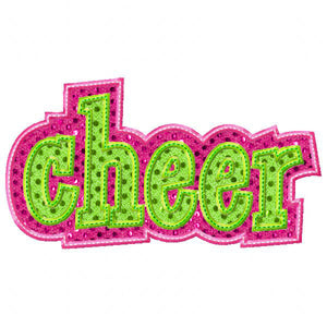 Double Cheer Applique - embroidery-boutique