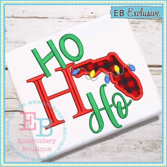Ho Ho Ho Florida Applique, Applique