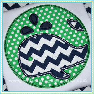 Whale Patch Applique, Applique