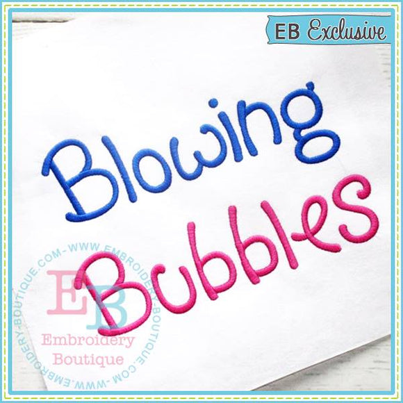 Blowing Bubbles Alphabet
