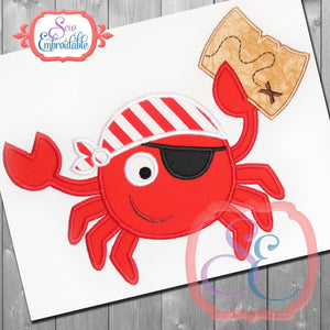 Pirate Crab Applique - embroidery-boutique