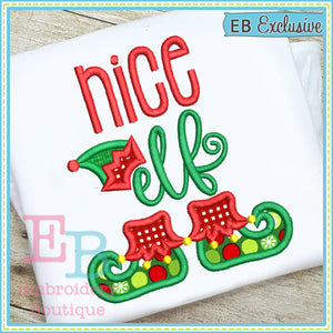 Nice Elf Applique, Applique