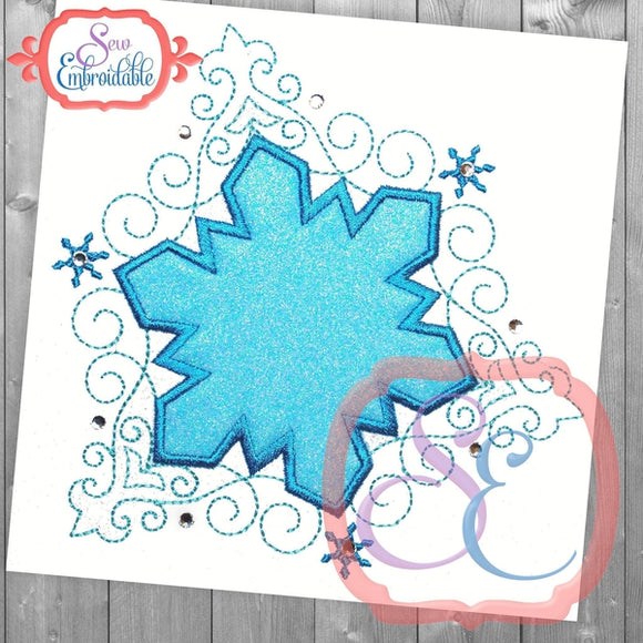 Snow Princess Frame, Applique