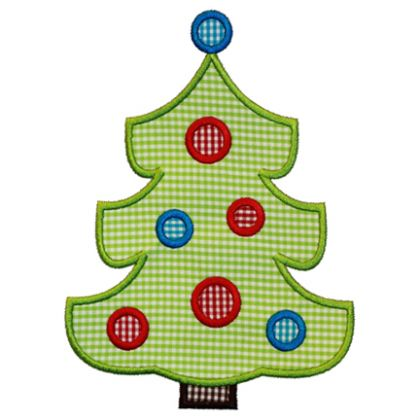 Polka Dot Tree Applique - embroidery-boutique