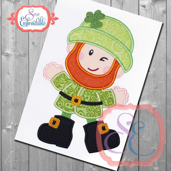 Happy Leprechaun Applique - embroidery-boutique