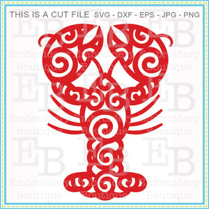 Swirly Crawfish SVG - embroidery-boutique