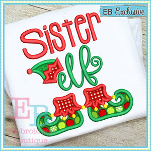 Sister Elf Applique - embroidery-boutique