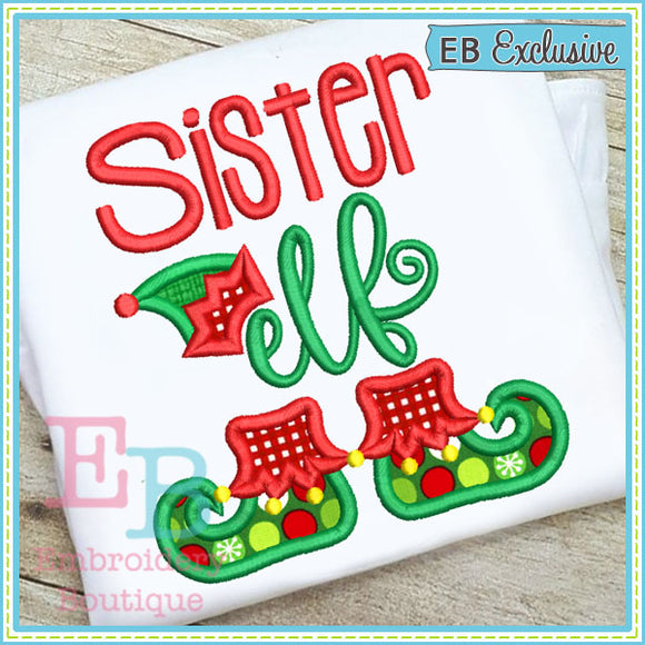 Sister Elf Applique