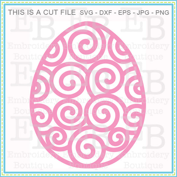 Swirly Easter Egg SVG - embroidery-boutique