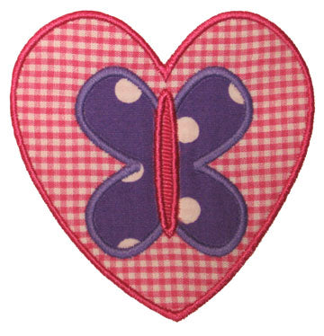 Heart Butterfly Applique - embroidery-boutique