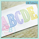 Sketch Capitals Set - Motif Fill - 5 Full Alphabets - embroidery-boutique