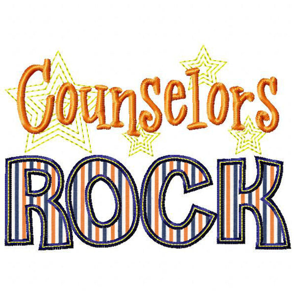 Counselors Rock Applique, Applique