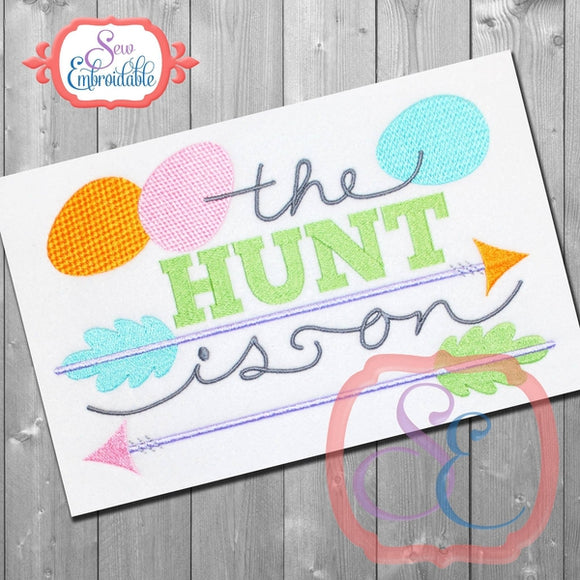 The Hunt Is On Embroidery Design, Embroidery