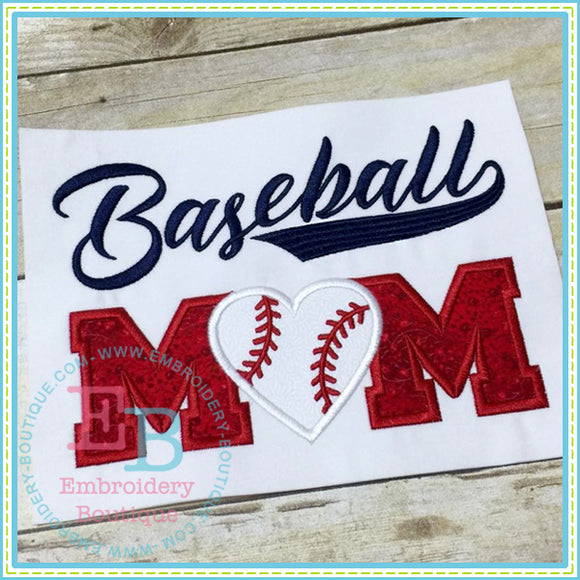 Baseball Mom Applique