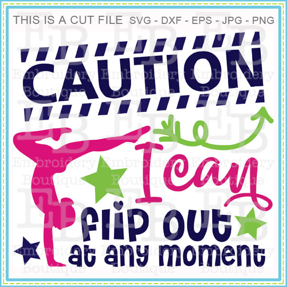 Caution I Flip Out SVG, SVG Cut Files