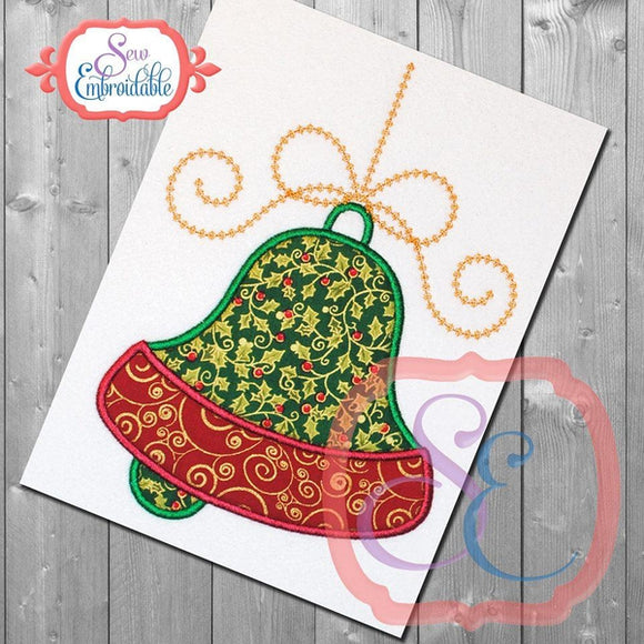 Hanging Holiday Bell Applique - embroidery-boutique