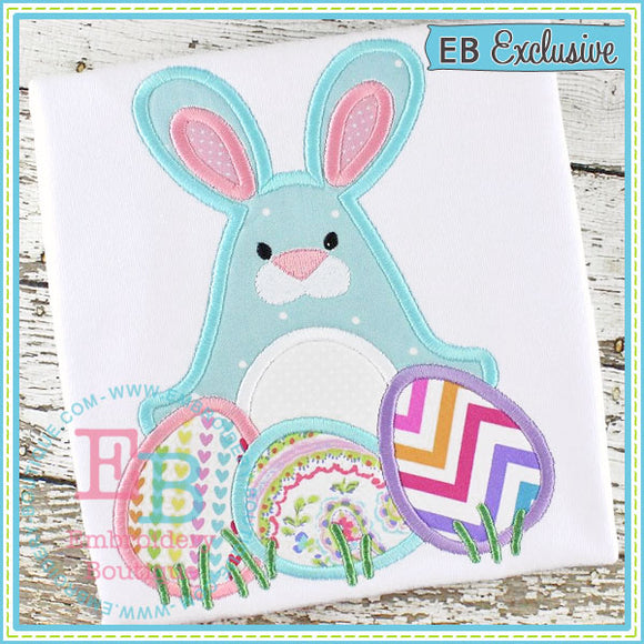 Bunny with Eggs Applique