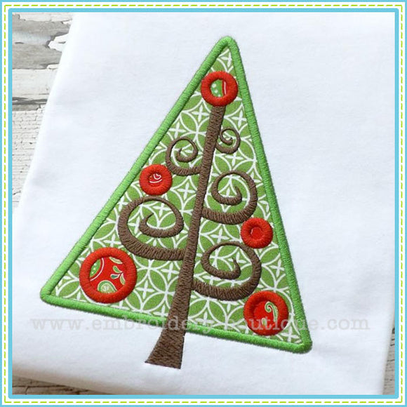 Christmas Tree Branches Applique, Applique