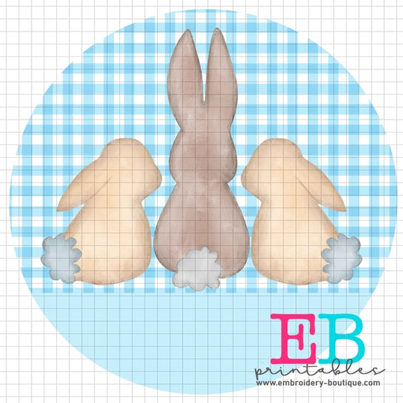 3 Bunnies Light Blue Printable Design PNG - embroidery-boutique