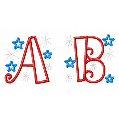Patriotic Applique Alphabet - embroidery-boutique