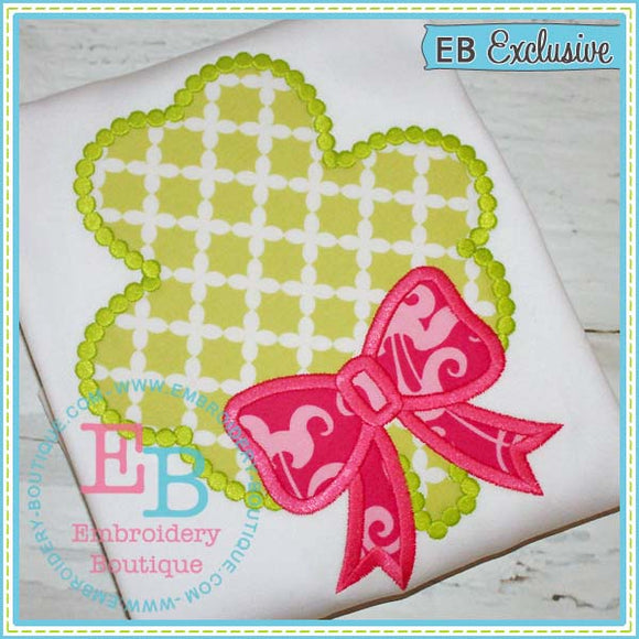 Dotted Shamrock Applique - embroidery-boutique
