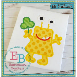 Shamrock Monster Applique - embroidery-boutique