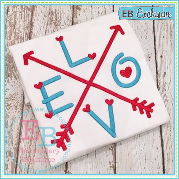 Love Arrows Embroidery Design - embroidery-boutique