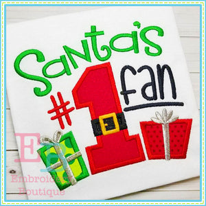 Santa's Fan Applique - embroidery-boutique