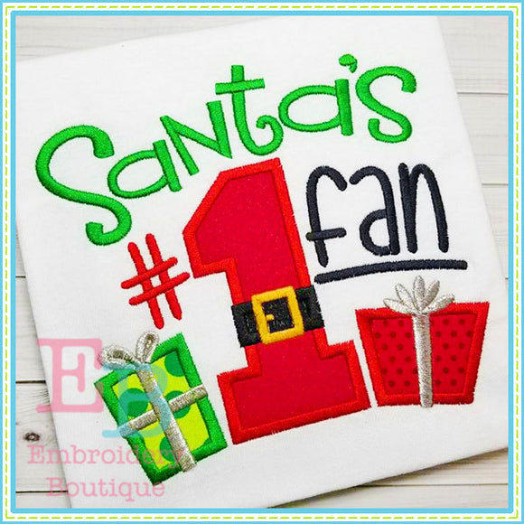 Santa's Fan Applique