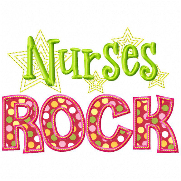 Nurses Rock Applique, Applique