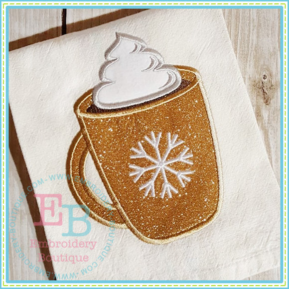 Hot Chocolate Applique - embroidery-boutique