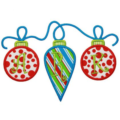 Ornament Trio Applique - embroidery-boutique
