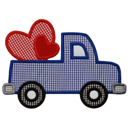 Heart Truck Applique - embroidery-boutique