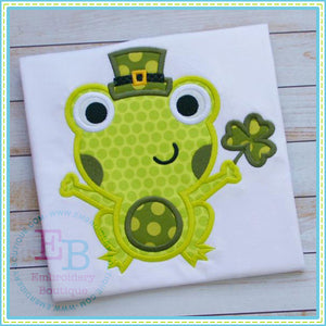 St. Patty's Frog Applique