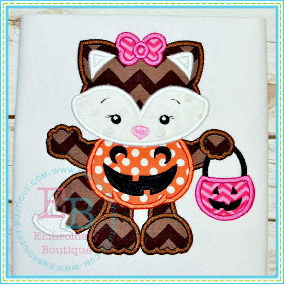 Pumpkin Fox Applique, Applique