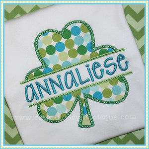 Split Shamrock Applique, Applique