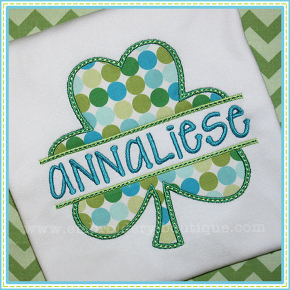 Split Shamrock Applique - embroidery-boutique
