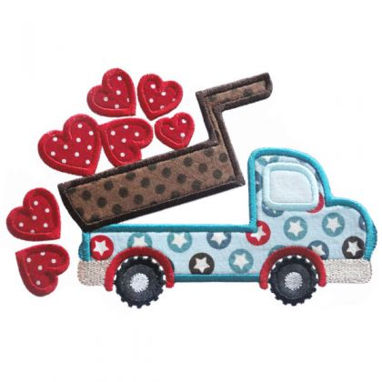 Dump Truck with Hearts - embroidery-boutique