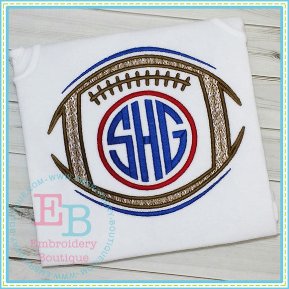 Sketch Monogram Football Embroidery Design - embroidery-boutique