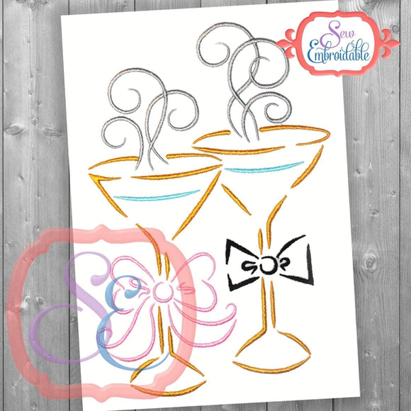 Cheers Embroidery Design, Embroidery