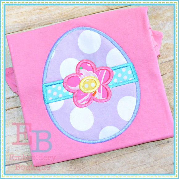 Egg Flower Applique - embroidery-boutique